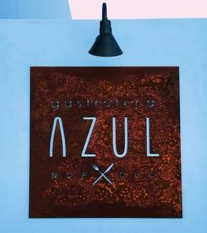Gastroteca Azul restaurant sign in Loreto Bay