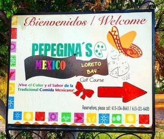 Pepegina's restaurant in Loreto Bay, Mexico
