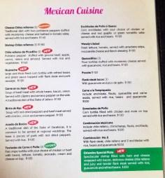 Orlando's menu as of January, 2019