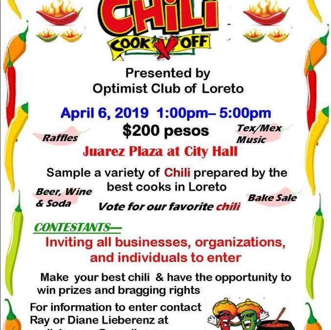 1st Annual Chili Cook Off