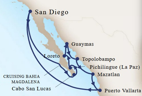 Holland America 11 Day Cruise Map