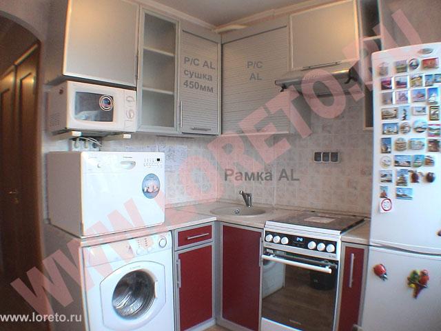 кухня в хрущевке 6 квм дизайн с холодильником 2
