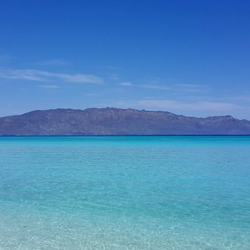 The Baja mainland as seen from the beach on Coronado Island.