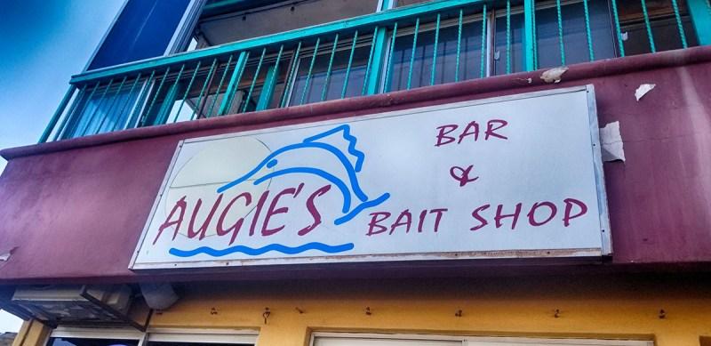 Augie's Bar & Bait Shop Sign