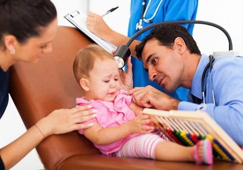 Воспаление уха у детей