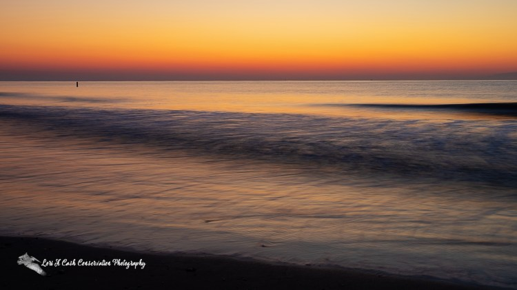 Beach sunrise on a summer morning at Buckroe Beach in Hampton, Virginia.
