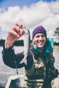Ketamine's rapid relief of depression has helped this guy enjoy fishing.