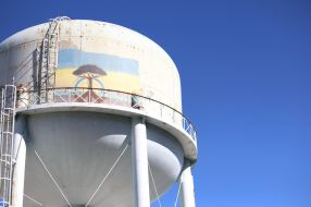 People with bipolar disorder seek risky behaviors like climbing this water tower to paint graffiti on it.