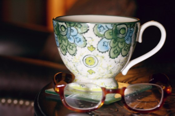 teacup and glasses still life