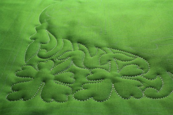 shamrock free motion quilting