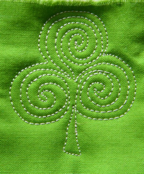 Free Motion Quilting-Shamrock Tutorial