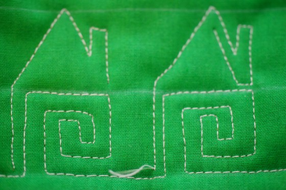 Free Motion Quilting, Houses, Tutorial