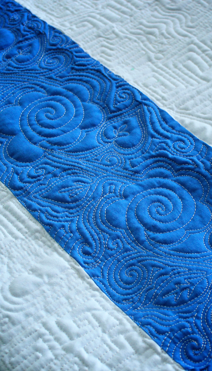 Free Motion Quilted Doodle
