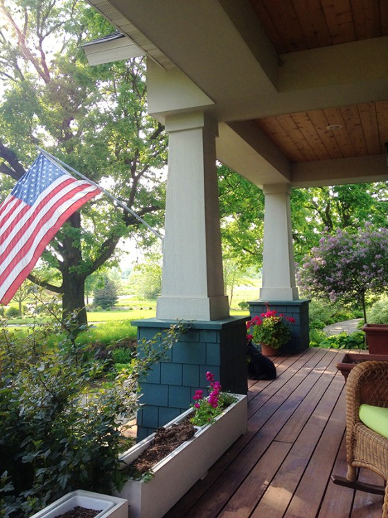 American Flag, Porch, Home