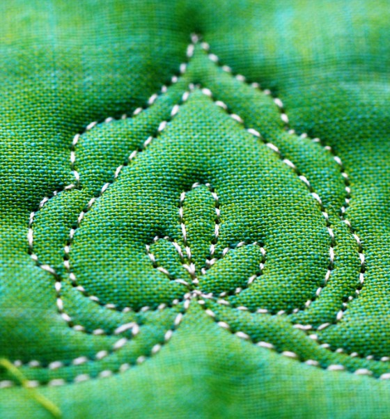 Free Motion Quilting Tutorial-The Heart Leaf Vine