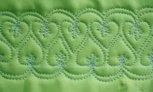 Free Motion Quilt Tutorial, Double Heart Leaf Vine