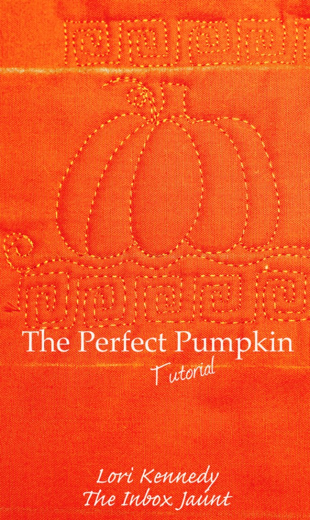 How to Machine Quilt a Pumpkin Pattern