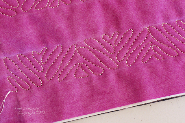 Squiggle Square Free Motion quilting