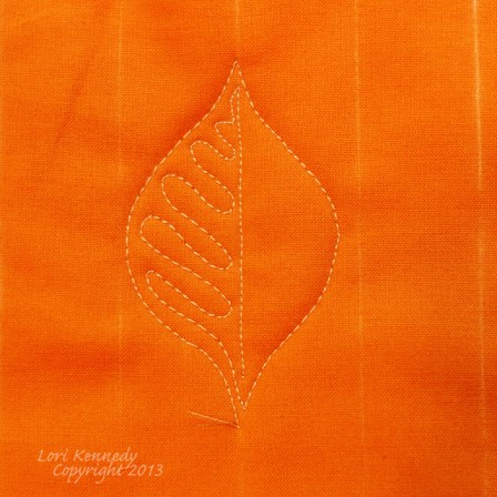 The Basic Leaf Free Motion Quilting Tutorial