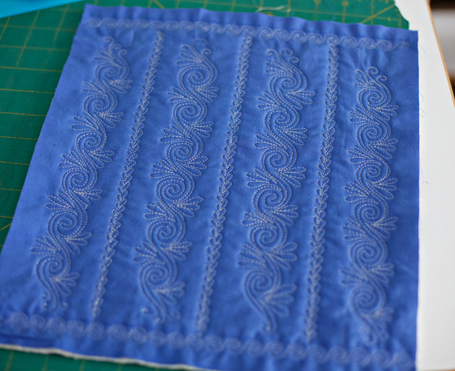 Free Motion Quilting, Spirals, Swirls and Twirls Mini Quilt