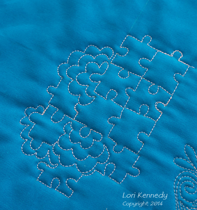 Free Motion Quilting, flowers, Puzzles