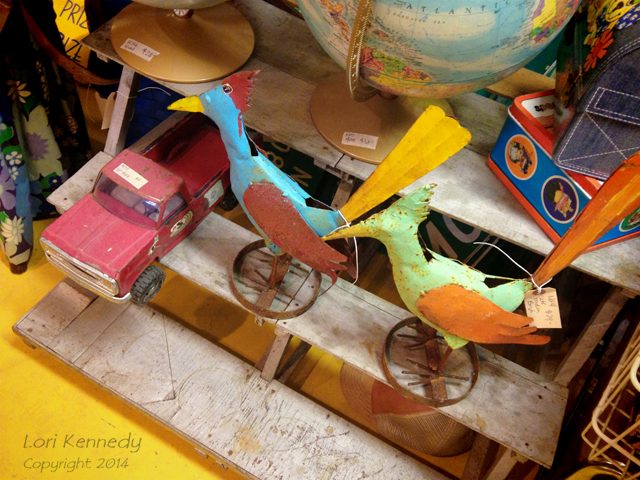 Vintage Toys, Birds, Trucks