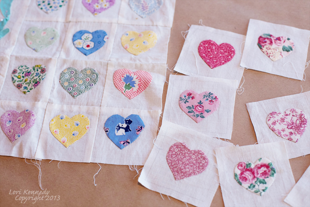 Free triple hearts applique patterns
