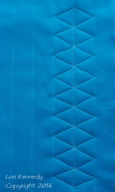 Diamonds, Quilt Tutorial, Free Motion Quilting
