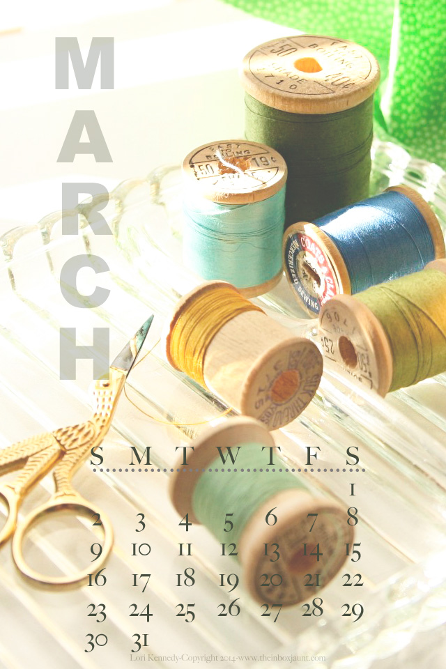 March Sewing Calendar