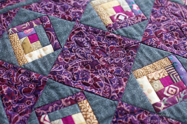 Mini Log Cabin Quilt, Purple