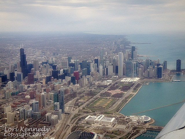 Chicago, Iphone, Aerial view