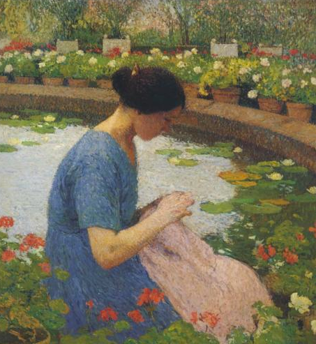 Sewing in the Garden Marquayrol,