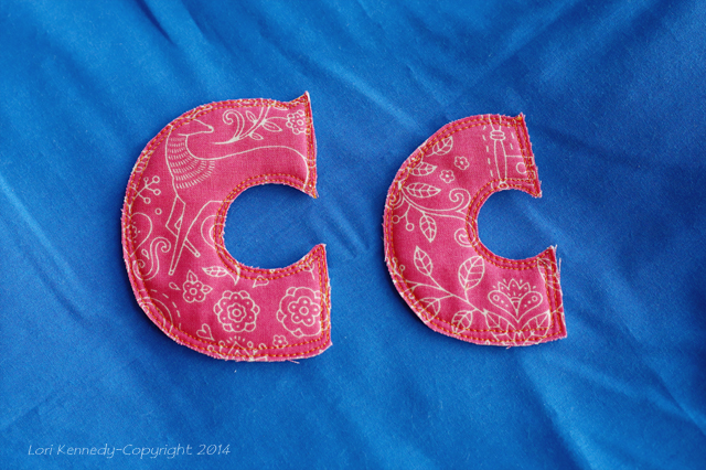 The Letter C- Stitched