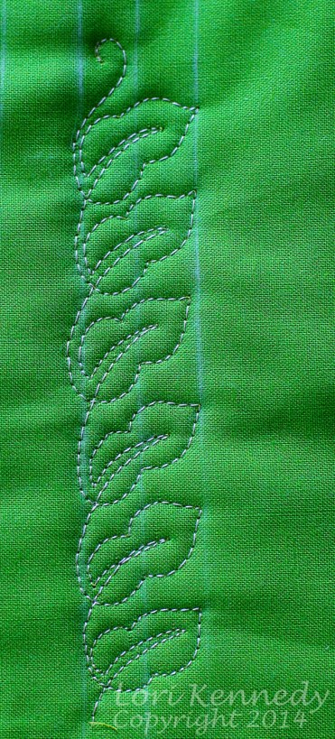 The Maypop Leaf Free Motion Quilting
