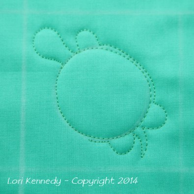 Tommy the Turtle, Free Motion Quilting, Tutorial