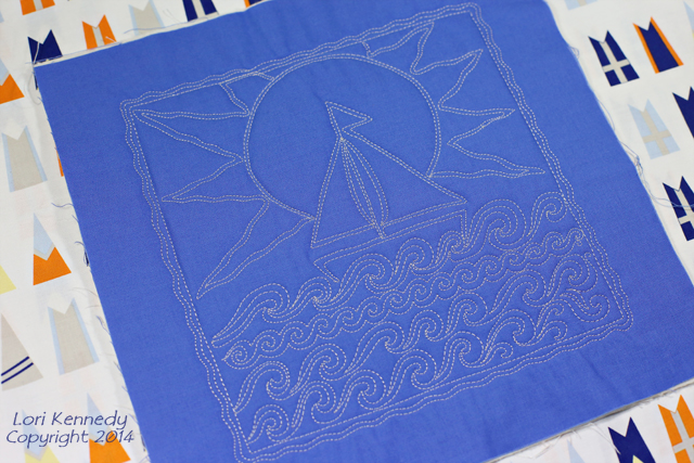 Sailboat Free Motion Quilt Project