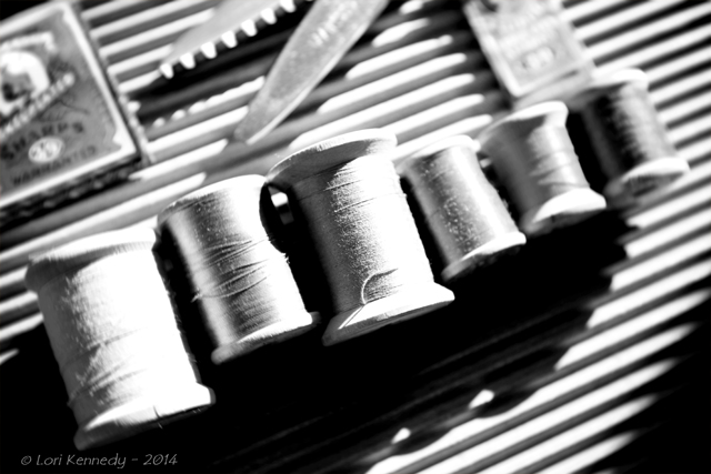 Black and White, Vintage Sewing Notions