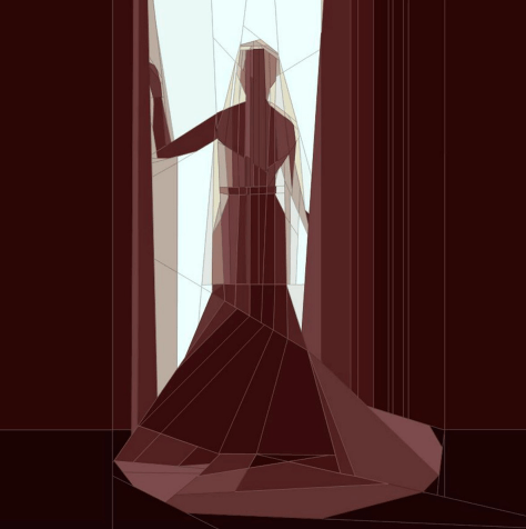Bride Silhouette, Paper Piecing Pattern