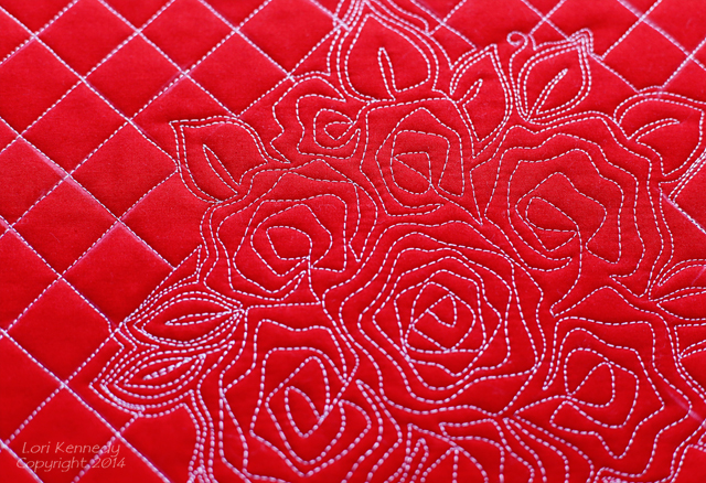 Nora's Rose-A Free Motion Quilt