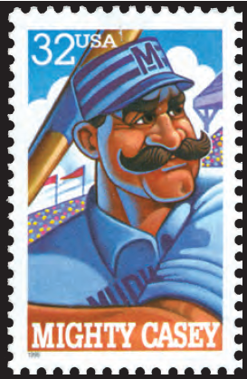 Mighty Casey Postage Stamp