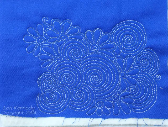 The Dizzy Daisy, Free Motion Quilting