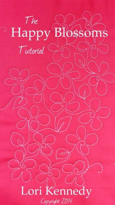 Happy Blossoms-A Free Motion Quilt Tutorial