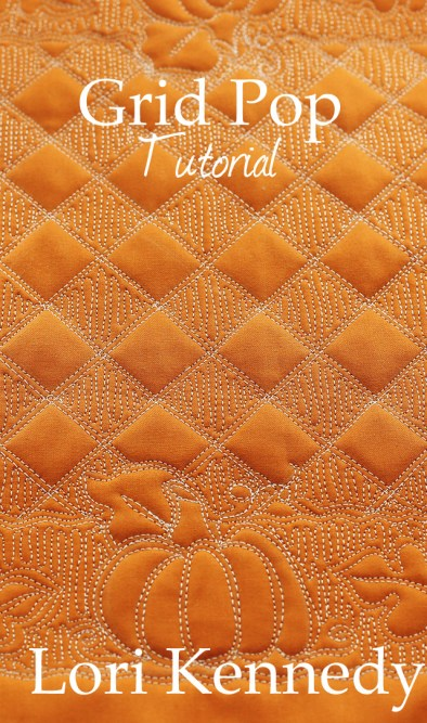 Grid Pop and Oak Leaf Free Motion Quilting