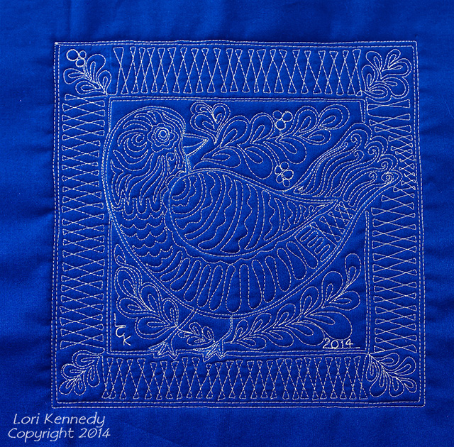 Lori Kennedy. Free Motion Quilting, Partridge
