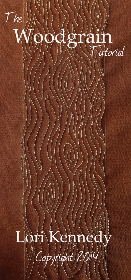Woodgrain, Free Motion Quilting