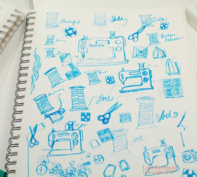 Sewing Motif Doodles