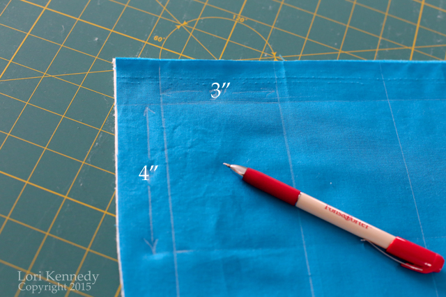 Marking a Grid for Quilting