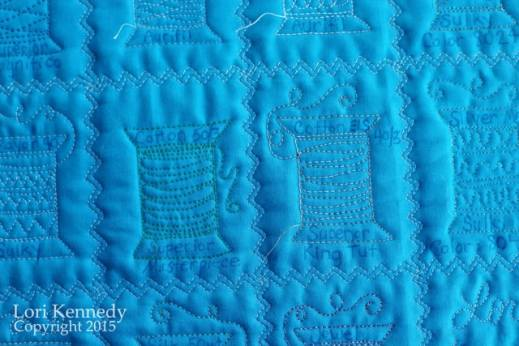 Thread Samples, Free Motion quilting
