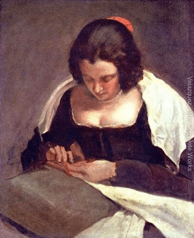 Velazquez, Woman Sewing