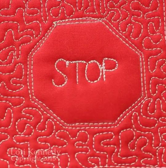Free motion Quilting, Stipple stitch, Meander stitch